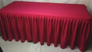 Pink Table Skirt by 6 U0027 Ft Fitted Polyester Double Pleated Table Skirt Cover W Top