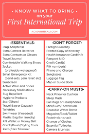 College Packing Checklist Best 20 Europe Packing Ideas On Pinterest Travel Packing