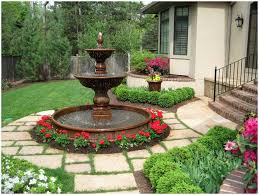Tiered Backyard Landscaping Ideas Backyards Winsome Backyard Fountain Diy Outdoor Fountains With