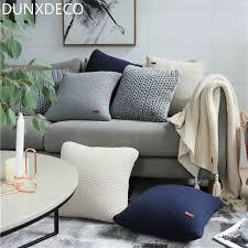 coussin deco canape dunxdeco housse de coussin décoratif taie d oreiller nordique