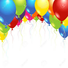 balloons flying up in the air over white royalty free cliparts
