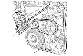 repair instructions on vehicle drive belt replacement 2012