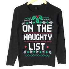 bad santa sweater for bad on the list sweater the