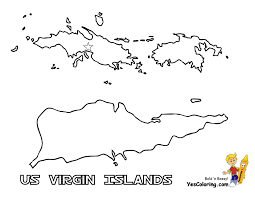 St Thomas Flag Us Virgin Island Flag And Map Coloring Pages St Croix St Thomas
