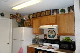 How To Decorate Top Of Kitchen Cabinets Kitchen Appealing Cool Incredible Bistro Kitchen Decorating