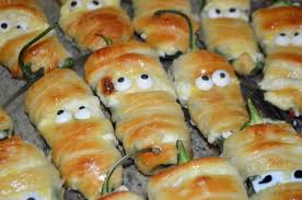 mummy jalapeno poppers halloween treats honeysuckle footprints