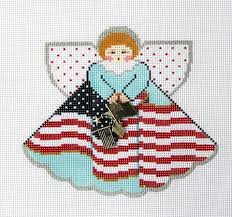 usa flag needlepoint canvas stitch guide