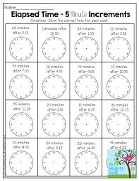 elapsed time 5 minute increments there are so many activities in