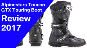 ride tech motorcycle boots 2017 alpinestars toucan gtx touring boots review youtube