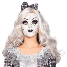 doll dress halloween costume porcelain doll mask for broken doll costume creepy halloween fancy