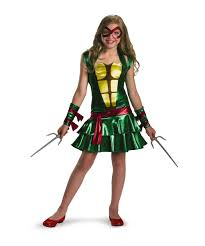teenage mutant ninja turtles raphael tween costume girls movie