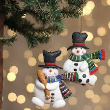 glittery polymer clay snowman sport ornament ornaments