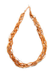 chain link necklace images Tan leather chain link necklace jpg