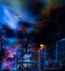 glowing murals bogi fabian bogi fabian amethystwelt universe room for minerals