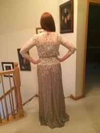 grosgrain ribbon belt lace boatneck sleeve gown with grosgrain ribbon belt ombre