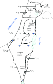 Map Of Israel Map Of Israel Showing The Geographical Distribution Of The Rabies