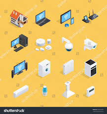 Home Internet by Smart Home Internet Things Iot Isometric Stock Vector 628527098
