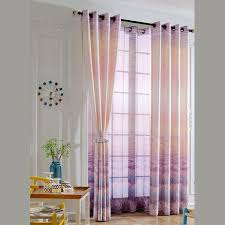 Pink And Purple Curtains Pink Purple Floral Polyester And Cotton Living Room Ombre Curtains