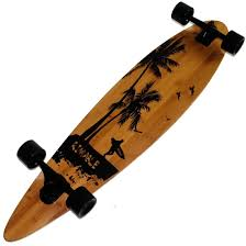 amazon com rimable bamboo pintail longboard 41 inch surf beach