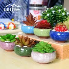 wituse pot de fleur bonsai pots ceramic planter desk flower pot