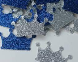 royal prince baby shower centerpiece baby blocks glitter