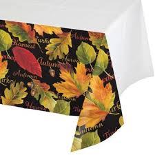 autumn expressions thanksgiving 54 x 108 plastic tablecloth