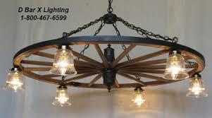 Wagon Wheel Lighting Fixtures Ww022 Wagon Wheel Chandeliers With Downlights