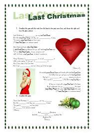 16 free esl christmas songs worksheets