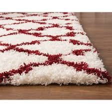 Toile Rugs Red And White Area Rug Roselawnlutheran