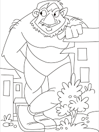 huge giant troll giant color fantasy medieval coloring pages
