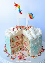 unicorn cake topper funfetti cake recipe from scratch my cake school