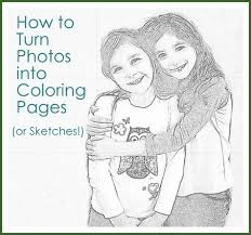 how to make a picture into a coloring page at children books online