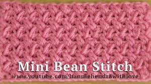 tutorial merajut alas tas crochet tutorial merajut motif kacang mini mini bean stitch