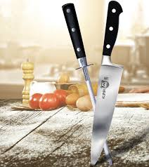 Honing Kitchen Knives by Kuma Honing Rod Kuma Knives