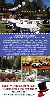 table and chair rentals sacramento shingle springs wedding rentals party royal rentals