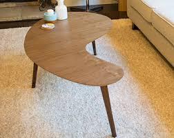 Boomerang Coffee Table Mid Century Modern Coffee Table Walnut Kidney Bean