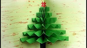 easy diy crafts how to make a christmas tree pop up card maison