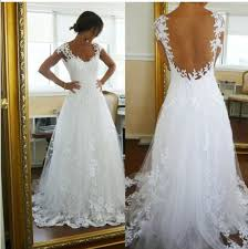 china cap sleeve bridal gown lace straples a line open back
