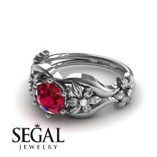 flower rings jewelry images The 4th season flower ring ruby ring lauren no 9 segal jewelry jpg