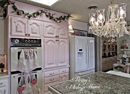 Different Colored Kitchen Cabinets Penny U0027s Vintage Home Pink Kitchen Cabinets