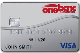 Visa Business Card Onebanc Business Credit Card Onebanc