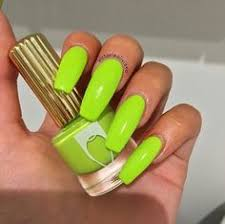 color lime green coffin nails nails face beauty pinterest