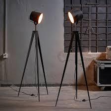 versanora artiste tripod floor lamp with shade black u0026 gold