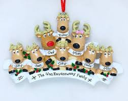 Personalized Ornaments For Large Families Big Family Ornaments Etsy