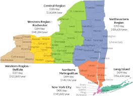 map of new your estimated average new york state nursing home rates