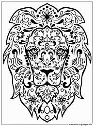 lion zen coloring pages printable