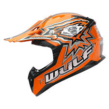 motocross style helmet wulf cub flite xtra motocross helmet kids junior childrens mx atv
