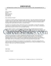 Early Childhood Education Teacher Resume Early Childhood Cover Letter Cover Letter For A Teacher Image