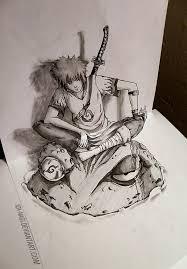 3d sketch yondaime hokage iza nagi deviantart