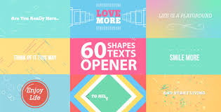 after effects free text templates 60 shapes text reveals and transition opener vector graphics
